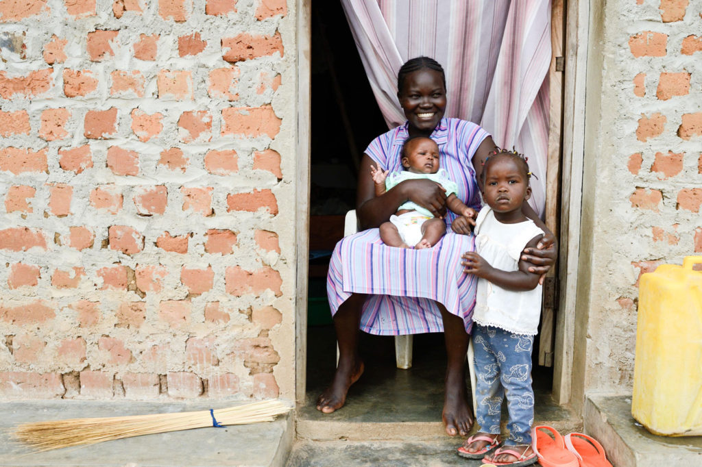Family in Yumbe District, Uganda
